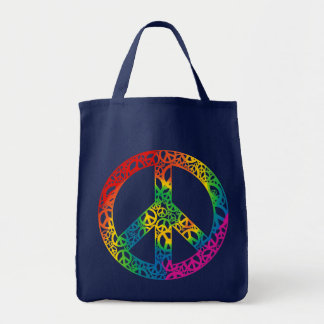 Rainbow Pieces of Peace Tote Bag