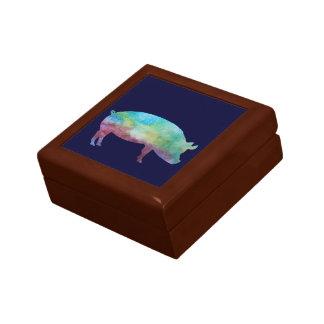 Rainbow Pig Keepsake Box