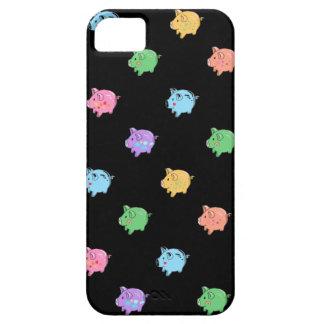 Rainbow Pig Pattern on black iPhone SE/5/5s Case