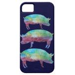 Rainbow Pig Stack iPhone 5 Cases