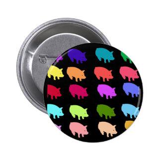 Rainbow Pigs 2 Inch Round Button