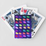 Rainbow Pigs Bicycle Poker Deck