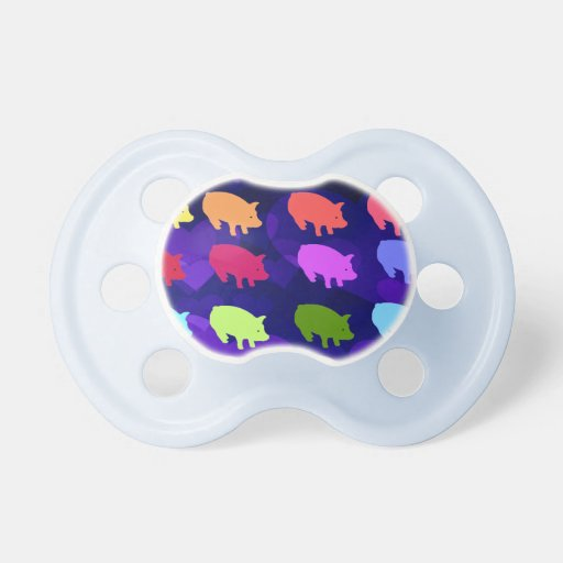Rainbow Pigs BooginHead Pacifier