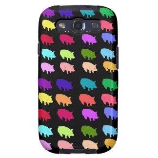 Rainbow Pigs Galaxy S3 Cases