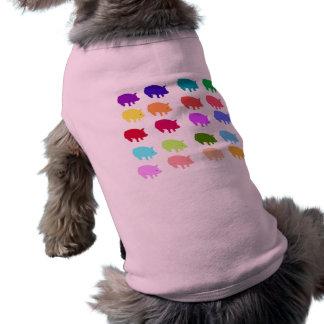 Rainbow Pigs Doggie T Shirt