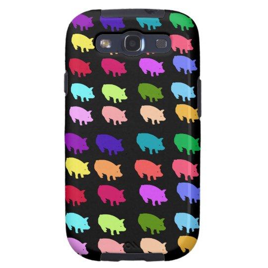 Rainbow Pigs Galaxy S3 Cover