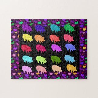 Rainbow Pigs Jigsaw Puzzle