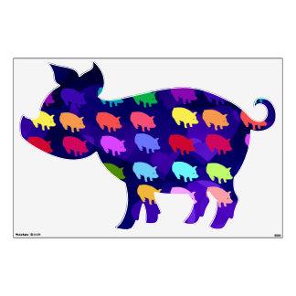 Rainbow Pigs Room Stickers