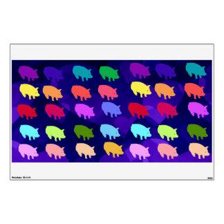 Rainbow Pigs Room Decal