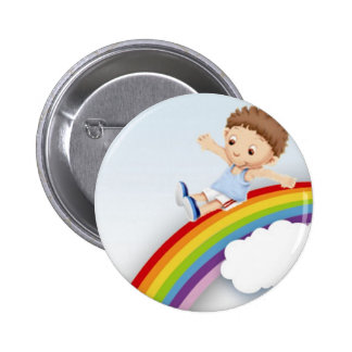 Rainbow Pinback Button