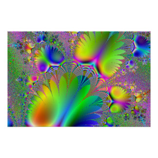 Rainbow Pineapple Fractal Print