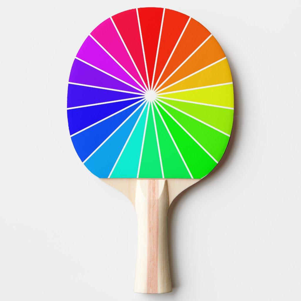 Rainbow Ping Pong Bright Colorful Fun Sports Gifts Ping Pong Paddle