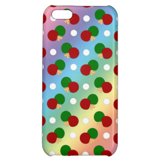 Rainbow ping pong pattern iPhone 5C cases