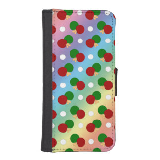 Rainbow ping pong pattern phone wallet