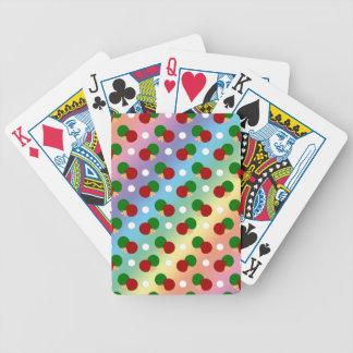 Rainbow ping pong pattern bicycle card decks