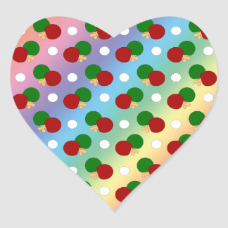 Rainbow ping pong pattern sticker