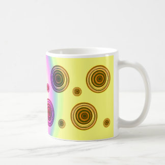 rainbow pink coffee mug