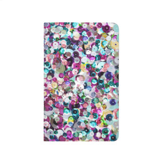 Rainbow Pink Sequin Sparkles All Over Print Journal