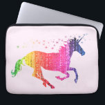 "Rainbow Pink Unicorn Computer Sleeve<br><div class=""desc"">A magical unicorn created in a mosaic of rainbow colours. Gorgeous for little girls who love pink.</div>"