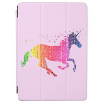 Rainbow Pink Unicorn iPad Air Cover