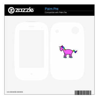 Rainbow pink unicorn skins for palm pre