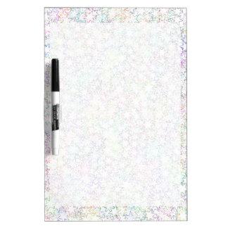 Rainbow Pink White Star Cluster Kawaii Girl Dry Erase Board