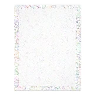 Rainbow Pink White Star Cluster Kawaii Girl Custom Flyer
