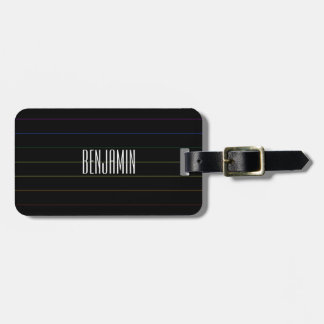 Rainbow Pinstripes Gay Pride Luggage Tag