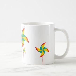 rainbow pinwheel coffee mug