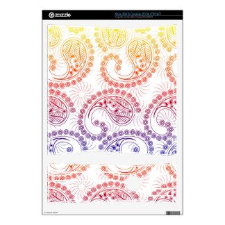 Rainbow Pinwheel Paisley Design Decals For Xbox 360 S