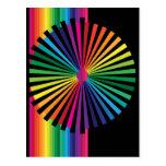 Rainbow PinWheel Postcard
