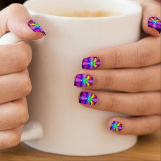 Rainbow Pirate Crossbones Minx ® Nail Art