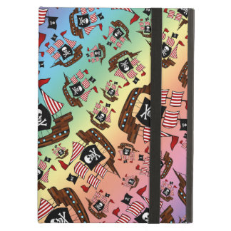 Rainbow pirate ship pattern iPad air cases