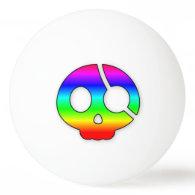 Rainbow Pirate Skull ping pong ball Ping Pong Ball