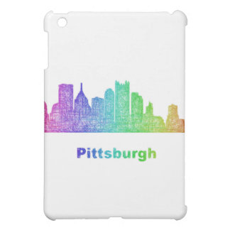 Rainbow Pittsburgh skyline iPad Mini Covers