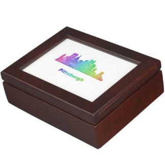 Rainbow Pittsburgh skyline Memory Box