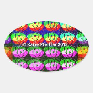 Rainbow Pixel Eyes Sticker