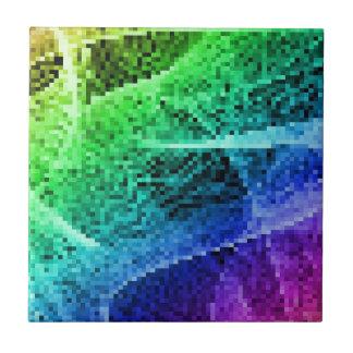 rainbow pixel tiles