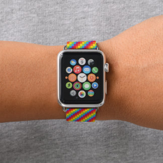 Rainbow Pixels LGBT Pride Apple Watch Band