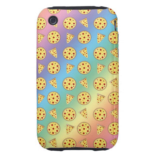 Rainbow pizza pattern iPhone 3 tough cases