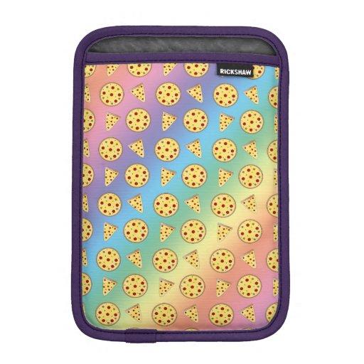 Rainbow pizza pattern sleeve for iPad mini