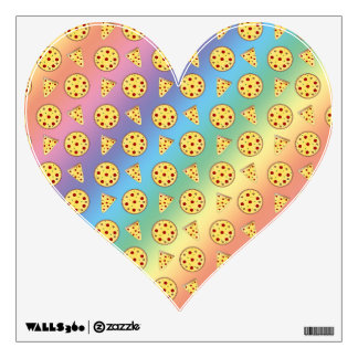 Rainbow pizza pattern wall stickers