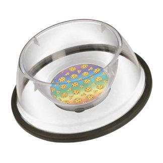 Rainbow pizza pattern pet bowl