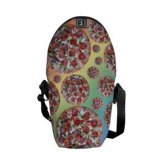 Rainbow pizza pie messenger bags