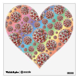 Rainbow pizza pie wall decal