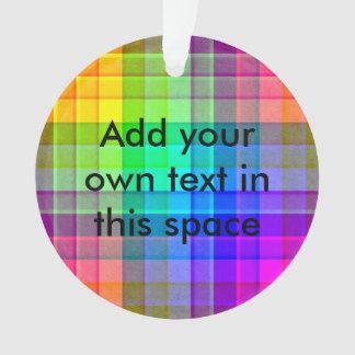 Rainbow Plaid Custom