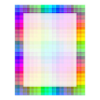Rainbow Plaid Custom Letterhead