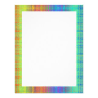 Rainbow Plaid Customize It or Go Bold Plaid Letterhead