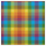 Rainbow Plaid Fabric