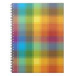 Rainbow Plaid Notebook